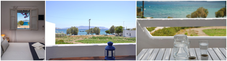 GREECE CYCLADES MILOS ISLAND bed and breakfast accommodations boutique hotel rooms to let guesthouse suite maisonette beach greek islands greece rooms for rent